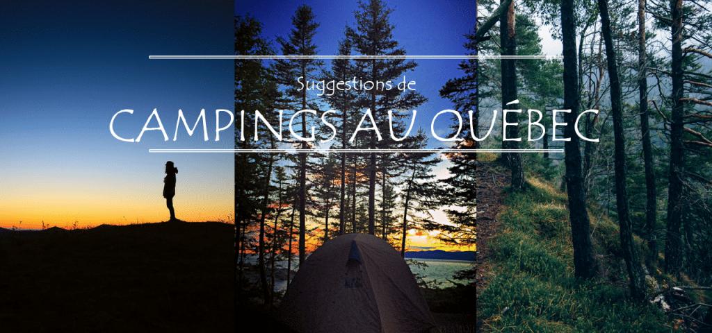 Les plus beaux campings du Québec.